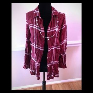 Old Navy Flannel-medium (necklace not included)